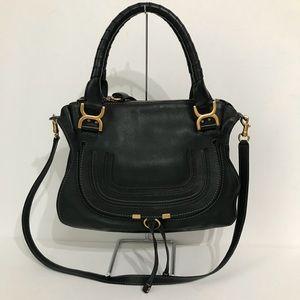 Authentic Chloe Medium Marcie Black Double Carry